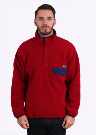 Patagonia Synchilla Snap-T Fleece Pullover - Classic Red