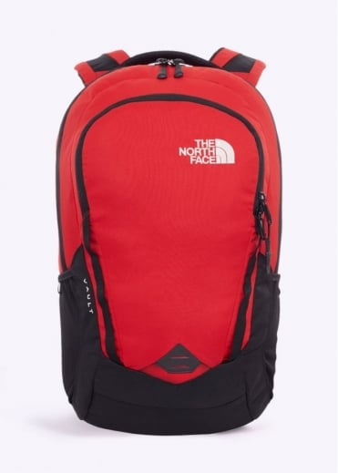 North Face Vault Backpack - Black / TNF Red