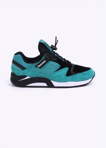 "Saucony Grid 9000 ""Bungee"" Trainers - Green/Black"