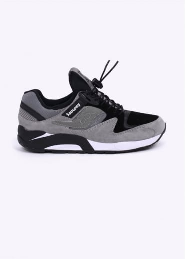 """Saucony Grid 9000 """"Bungee"""" Trainers - Grey/Black"""