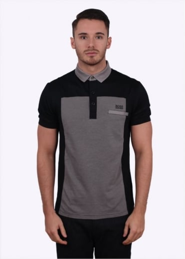 Hugo Boss Green Pavel Polo - Black