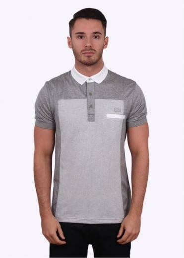 Hugo Boss Green Pavel Polo - Light Grey