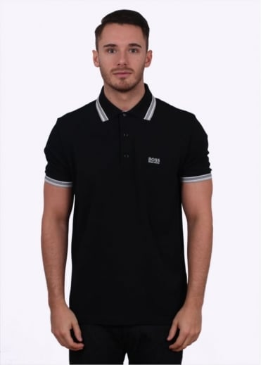 Hugo Boss Green Paddy Polo - Black