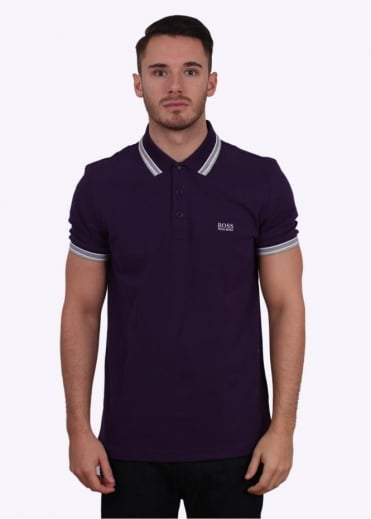 Hugo Boss Green Paddy Polo - Medium Purple