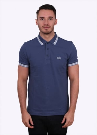 Hugo Boss Green Paddy Polo - Dark Blue