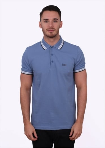 Hugo Boss Green Paddy Polo - Dark Open Blue