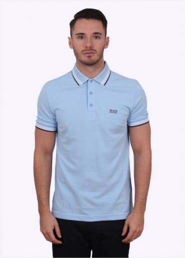 Hugo Boss Green Paddy Polo - Light Open Blue