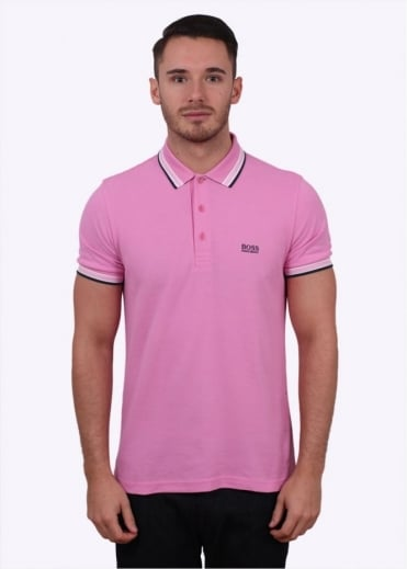 Hugo Boss Green Paddy Polo - Alternate Light Pink