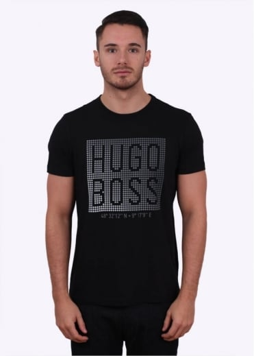 Hugo Boss Green Teeos Tee - Black