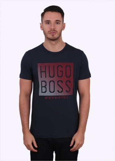 Hugo Boss Green Teeos Tee - Navy