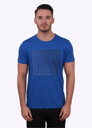 Hugo Boss Green Teeos Tee - Open Blue