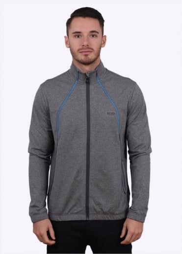Hugo Boss Green Skatech Zip Track Top - Medium Grey