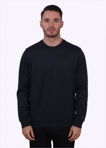 Hugo Boss Green Salbo Jumper - Navy