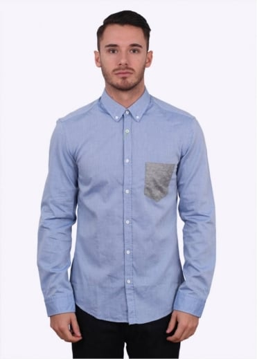Hugo Boss Green Green Bergen Shirt - Blue