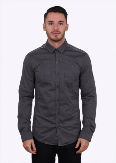Hugo Boss Green Blane Shirt - Dark Grey