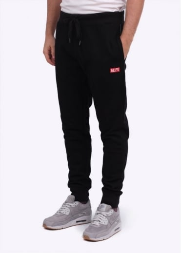 Alife Basic Stuck Up Sweatpants - Black