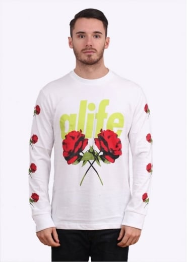 Alife Roses Long Sleeve Tee - White
