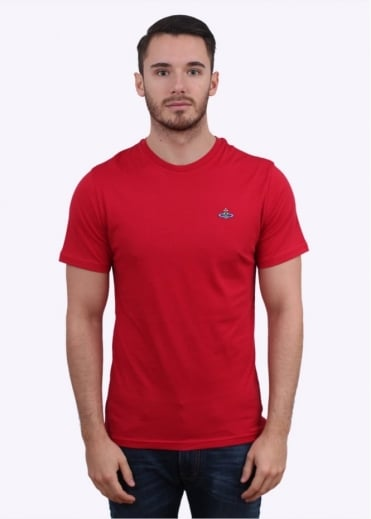 Vivienne Westwood Mens Logo Tee - Light Red