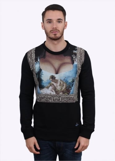 Vivienne Westwood Mens Cleavage Graphic Sweater - Black