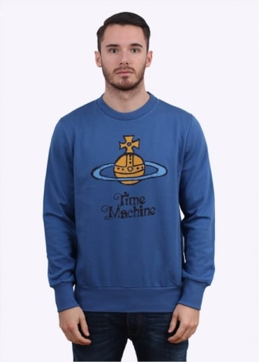 Vivienne Westwood Mens Graphic Orb Sweater - Blue