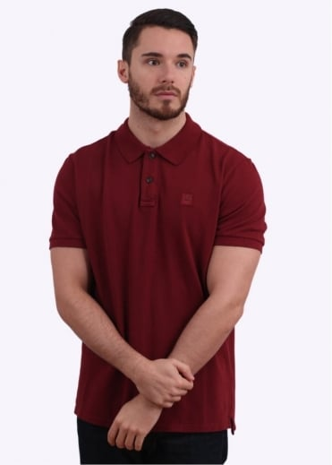 C.P. Company Cotton Pique Regular Fit Polo Shirt - Red