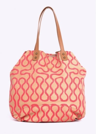 Vivienne Westwood Accessories MD Squiggle Shopper Bag - Red