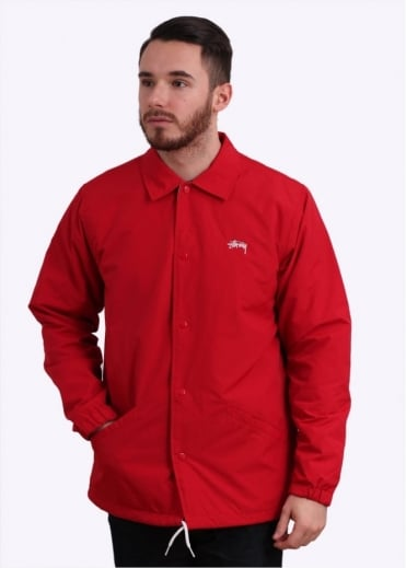 Stussy SS Link Coaches Jacket - Red