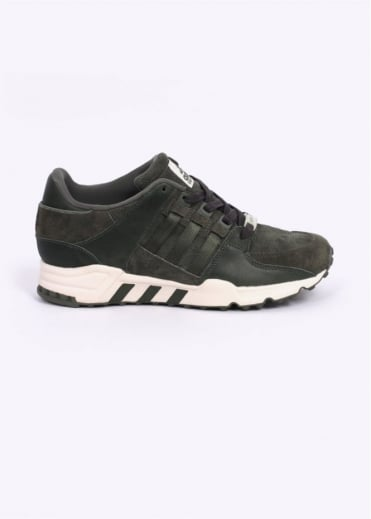 Adidas Originals Footwear EQT Equipment Running Support 93 'Herzo' Trainers - Base Green / Chalk White
