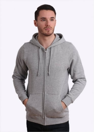 Stussy Tonal Stock Zip Hoody - Grey Heather