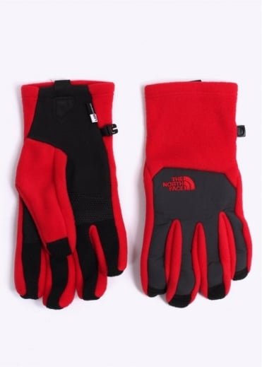 North Face Denali E-Tip Gloves - Red / Black