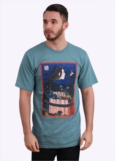 Stussy Well Ghost Tee - Steel Blue
