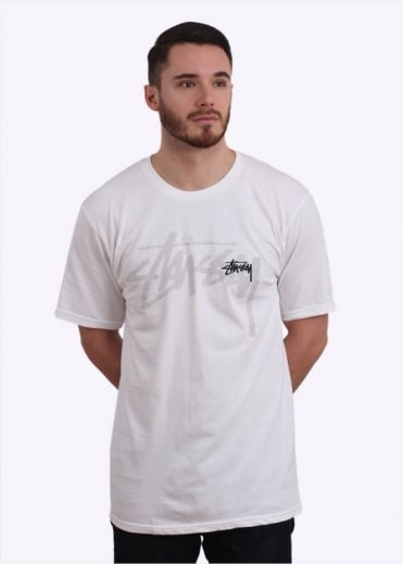 Stussy Over Stock Tee - White