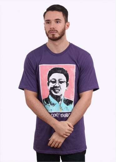 Stussy Kim Don't Surf Tee - Purple
