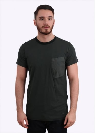 Stone Island Shadow Project Interlock Mako Pocket Tee - Dark Green