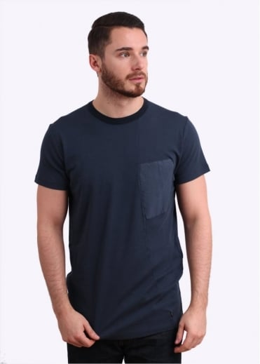 Stone Island Shadow Project Interlock Mako Pocket Tee - Ink