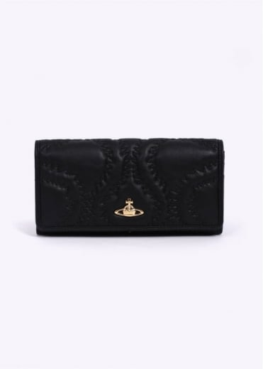 Vivienne Westwood Accessories Quilted Squiggle Purse - Black