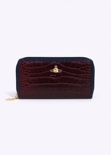 Vivienne Westwood Accessories Jungle Croc Purse - Cherry