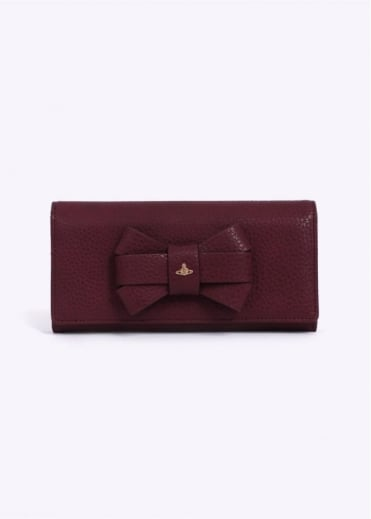 Vivienne Westwood Accessories Bow 215 Purse - Bordeaux