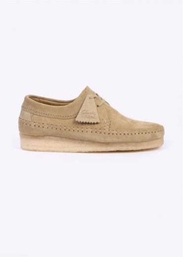 Clarks Originals Weaver Suede Shoes - Maple