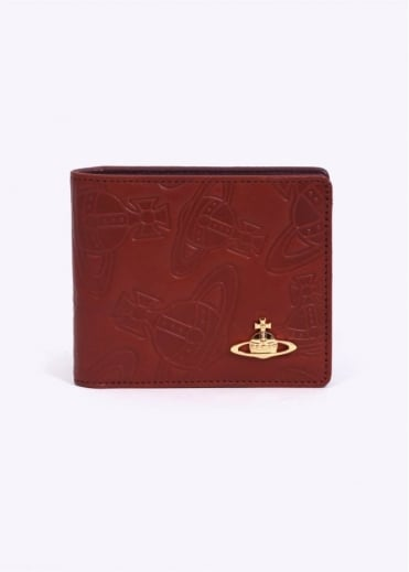 Vivienne Westwood Accessories 11V Dancing Orb Wallet - Rust
