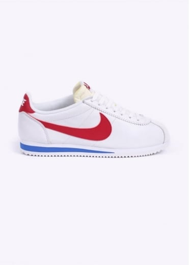 Nike Footwear Classic Cortez Premium Trainers - White / Varsity Red