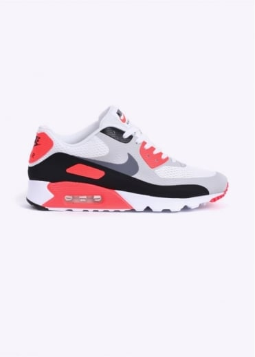 Nike Footwear Air Max 90 Ultra Essential Trainers - White / Cool Grey / Infrared