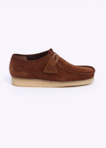Clarks Originals Wallabee Shoes - Cola