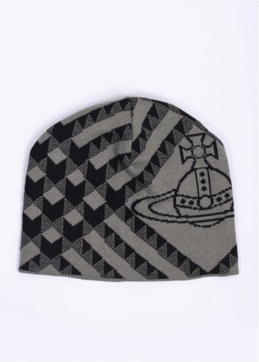 Vivienne Westwood Accessories Logo Beanie - Grey / Black