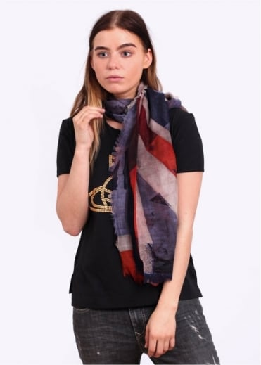 Vivienne Westwood Accessories New Flag Shawl - Navy