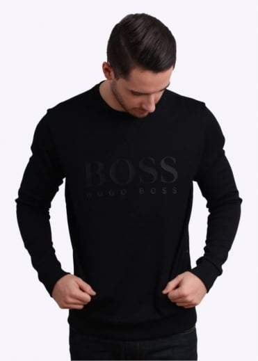 Hugo Boss Green Salbo Jumper - Black