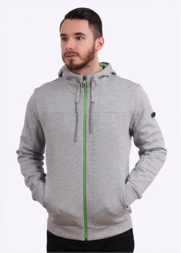 Hugo Boss Green Savon Hoody - Light Grey