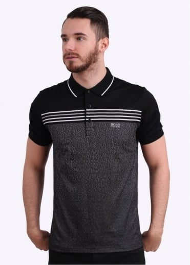 Hugo Boss Green Paddy 2 Polo Shirt - Black
