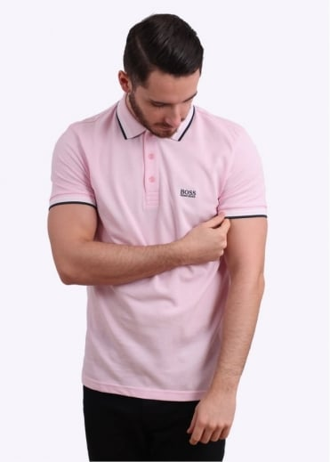 Hugo Boss Green Paddy Polo Shirt - Bright Pink