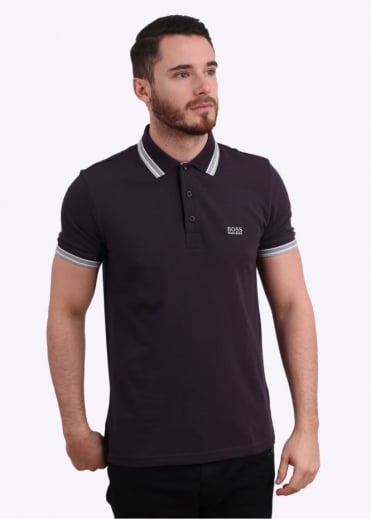 Hugo Boss Green Paddy Polo Shirt - Oxblood